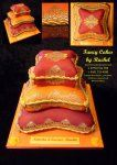 red and orange pillow cakes