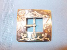 South Western Silver Belt Buckle by ROC by TabletopTreasure, $35.00