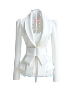Shop Bowknot Sheer White Suits at ROMWE, discover more fashion styles online.