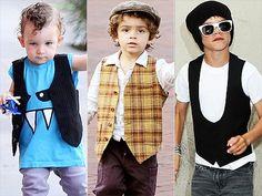 Celeb babies looking cute in mini vests!