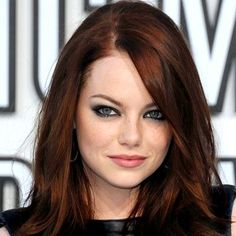 Dark auburn hair.  I think I need to color my hair this color.