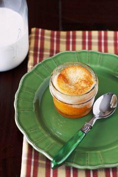 Peach cobbler in a jar! Yes, please....