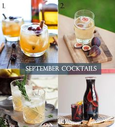 September Cocktails from Lucky in Love Wedding Planning Blog: Filled with seasonal fruits such as apples, figs and plums, and three of our favorite spirits - bourbon, beer and wine. #cocktails #signaturedrinks #fallcocktails #falldrinks