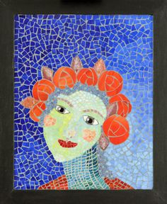 Flora: Stained Glass Mosaic  #mosaic #flora #glass