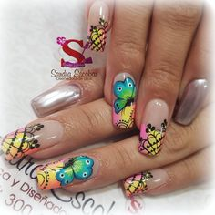 Summer Nails, Pedicure, Gel Nails, Nailart, Finger, Nail Designs, Lily, Instagram, Floral