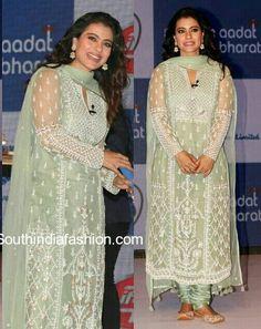 Mint green shiffon outfit Punjabi Dress, Punjabi Suits, Pakistani Dresses, Indian Dresses, Indian Outfits, Kurti Designs Party Wear, Kurta Designs, Punjabi Fashion, Bollywood Fashion