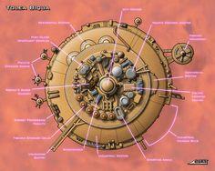 "Tolea Biqua: A new ""Cloud City"" I illustrated for Sam Witwer."
