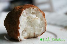 Irish Potatoes ~ A sweet and creamy coconut treat for St. Patrick's Day.