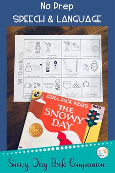 """This set is NO PREP and you just print and use it! This is a book companion download for the Ezra Jack Keats book """"The Snowy Day"""". Perfect for speech and language therapy."""
