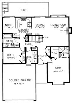 Traditional House Plan 90880 Level One