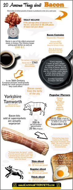 20 Awesome Bacon Facts [Infographic]