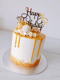Fairy Birthday Cake, 1st Birthday Cake For Girls, Elegant Birthday Cakes, Special Birthday Cakes, Cute Birthday Cakes, Beautiful Birthday Cakes, Cake Decorating Designs, Creative Cake Decorating, Creative Cakes
