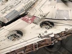My Bandai Perfect Grade Millennium Falcon -finished! Star Wars Boba Fett, Star Wars Darth, Star Wars Clone Wars, Lego Star Wars, Darth Maul, Star Trek, Millennium Falcon Model, Perfect Grade, Star Wars The Old