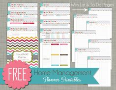 Free Home Management Printables - Three Sizes to Choose from for your planner or binder - Designed by ThePolkaDotPosie{Printables}