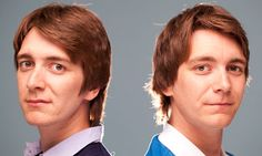 Oliver (left) and James Phelps, the Weasley twins in the Harry Potter ...