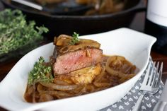 Filet with French Onion Soup Sauce recipe pictures