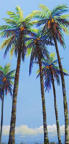 Delray Palms II Painting by Anne Marie Brown - Delray Palms II Fine Art Prints and Posters for Sale