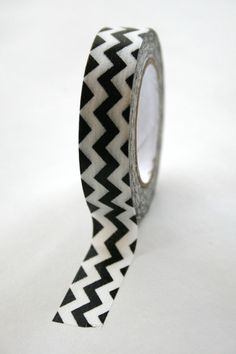 Washi Tape Black White Chevron  15mm  Deco Tape by InTheClear, $3.95