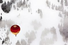 This image of a hot-air balloon over Switzerland grabbed our attention for our Photo of the week from our Flickr group member.