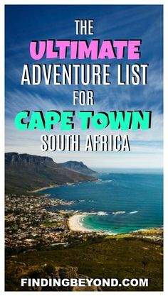 Looking for some adventure in Cape Town, South Africa? Check out or list of adventure sports and activities to keep you active during your stay in the city.