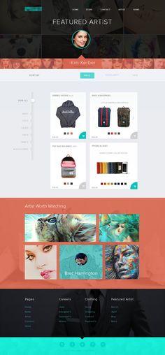 Featured artist layout