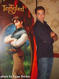 My voice!!! (Zachary Levi) looking handsome as usual... :D