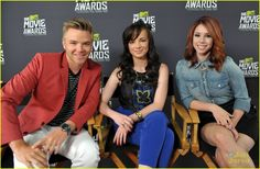 Brett Davern, Ashley Rickards and Jillian Rose Reed from The 2013 MTV Movie Awards