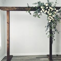 This is a rentable arbor and you can add fresh flowers and drapery to complete your wedding look! This classic white and greenery install looks amazing with the dark wood. arch flowers Indiana Floral Arbor with Greenery Wedding Looks, Dream Wedding, Hotel Wedding, Wedding Arbors, Wedding Archways, Wood Wedding Arches, Persian Garden, Floral Wedding, Wedding Arch With Flowers