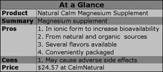 magnesium, supplements, natural calm