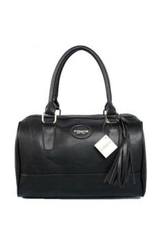 Coach Classic Leather Madison Satchel Black   #chinabrandwholesale