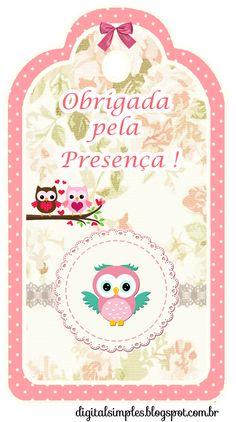 """Kit de Aniversário Personalizado Tema """"Corujas"""" para Imprimir - Convites Digitais Simples"""