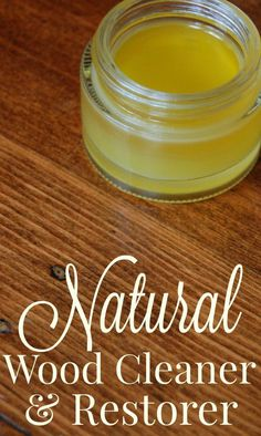 Natural Wood Cleaner and Restorer Wow! This works so well! (check the before and after pic in the post!) I always thought I would need to resort to some sort of chemical cleaner or finish to restore m (Diy Furniture Cleaner) Safe Cleaning Products, House Cleaning Tips, Green Cleaning, Cleaning Hacks, Cleaning Solutions, Diy Hacks, Spring Cleaning, Cleaning Supplies, Natural Wood Cleaner