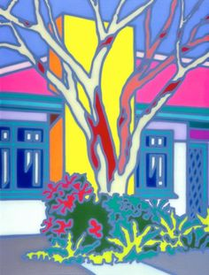 Howard ARKLEY (b.1951; d.1999) - (Limited Edition ) HOUSE WITH NATIVE TREE