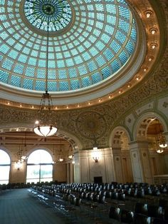Tiffany Glass Dome, Chicago Cultural Center, Chicago, Illinois