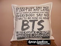 Kpop pillow case unique BTS Bangtan boys k-pop Korea by Cymelium