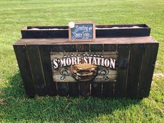 Exclusive custom s'more station made by our builders at Grand Illusions