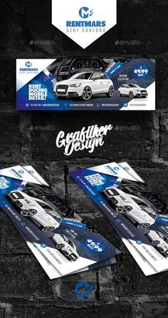 Buy Rent A Car Cover Templates by grafilker on GraphicRiver. Rent A Car Cover Templates Fully layered INDD Fully layered PSD 300 Dpi, CMYK IDML format open Indesign or later . Facebook Cover Photo Template, Facebook Cover Design, Facebook Timeline Covers, Cover Template, Banner Template, Advertising Design, Advertising Poster, Postcard Design, Calendar Design