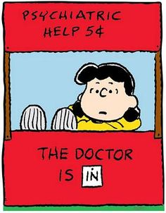 peanuts lucy 5c doctor is in poster   Lucy Doctor is In Color Decal Sticker, peanuts cartoon decals, snoopy ...