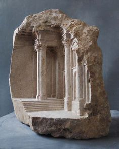 Matthew Simmonds Sculpts Miniature Sacred Interiors Out Of Solid Pieces Of Stone That Absorb The Imagination