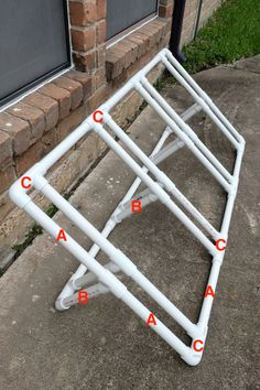 Pvc Bike Racks, Truck Bed Bike Rack, Pallet Bike Racks, Bike Parking Rack, Bicycle Rack, Backyard Storage Sheds, Diy Garage Storage, Bike Storage, Garage Organization