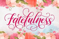 Fatefulness Hand Lettering Fonts, Calligraphy Fonts, Typography Logo, Script Font Style, Ttf Fonts, Commercial Use Fonts, Modern Fonts, Premium Fonts, Cool Fonts