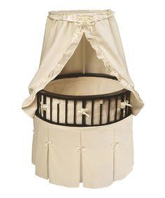 This Badger Basket Espresso Elite Bassinet & Ecru Bedding Set by Badger Basket is perfect! #zulilyfinds
