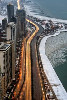 Chicago's Gold Coast - Lake Shore Drive steps from Thompson Chicago
