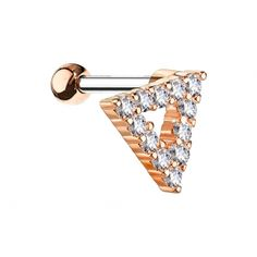 Barbell, Belly Button Rings, Piercing, Rose Gold, Jewelry, Triangles, Jewlery, Bijoux, Schmuck