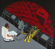 Malerier.. James Rosenquist, Claes Oldenburg, Jasper Johns, Hare Krishna, Andy Warhol, Pop Art, Night, City, Artist