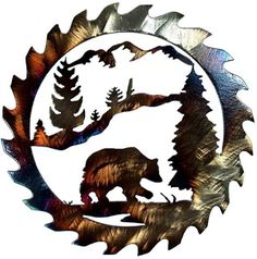 Bear Saw Blade, In Style Metal