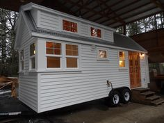 The Ynez tiny house, from the Oregon Cottage Company, measures just 172 square feet. Tiny House Big Living, Tiny House On Wheels, Small House Plans, Tiny Mobile House, Tiny House Exterior, Tiny House Movement, Tiny Spaces, Tiny House Design, Little Houses