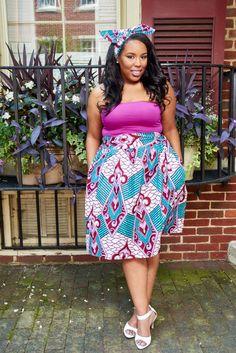 D'IYANU, African Print Midi Skirt, Modern African Print Skirt, African Clothing, Latest African Fashion, African Prints, African fashion styles, African clothing, Nigerian style, Ghanaian fashion, African women dresses, Nigerian fashion, Ankara