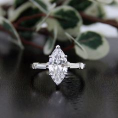 $58.25  for a 2.80 Carat Center Engagement Ring-Marquise Cut Diamond by Besbelle