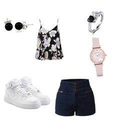"""Untitled #31"" by queen-of-spadesxoxo on Polyvore featuring LE3NO, NIKE, Ally Fashion, Emporio Armani and Bling Jewelry"